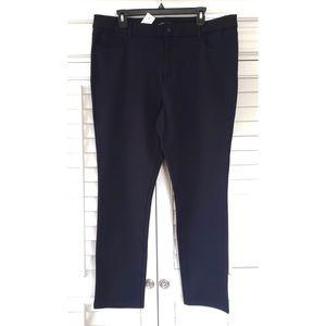 Ann Taylor Factory Skinny Modern Black Pants 16